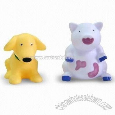 Baby Bath Toys with Dog and Pig Design