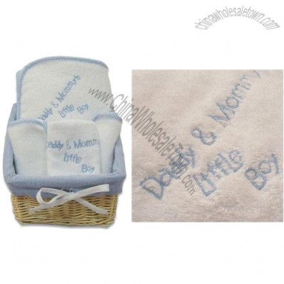 Baby Gift Set with Embroidered Design