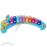 Baby Kids Cute Colorful Music Note 10 Sounds Knock Musical Xylophone Toy