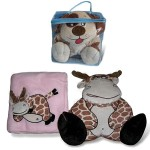 Baby Soft Toy and Coral Fleece Blanket Set