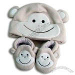 Baby's Cap and Slippers Set