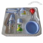 Baby's Gift Set Includes Bollte, Spoon, Cup and Bowl