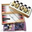 Backgammon Set with Chess Pieces, Chessboard/Chess Box