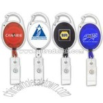 Badge Holder With Carabiner Clip