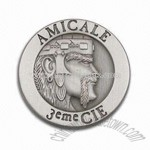 Badge in Antique Silver Finish
