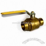 Ball Valve with Stainless Steel Handle and Chrome-plated Brass Inner Ball