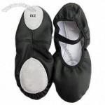 Ballet Shoes with Leather Upper - Black/Tan