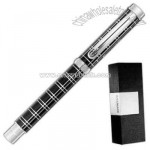 Balmain (R) San Remo - Black patterned roller ball pen