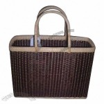 Bamboo And Rattan Woven Bags, Hand Knitted