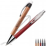 Bamboo Ballpoint Pen with Clip
