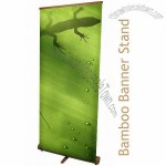 Bamboo Banner Stand and Graphic 850mm Wide