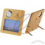 Bamboo Clock and Photo Frame