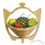 Bamboo Fruit Basket for Storage and Decoration