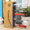 Bamboo Magnetic Multi-function Desk Stationery Organizer Pencil and Cellphone Holder
