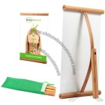 Bamboo Mini L Banner Stand