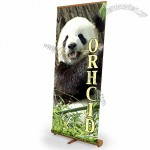 Bamboo Retractable Banner Stand - 36w Orchid Pull Up Banner Display