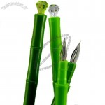 Bamboo Shaped Ball Pen with Diamond Top