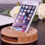 Bamboo Sound Amplifier Stand Dock for Cell Phone
