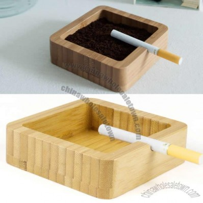 Bamboo Square Shaped Ashtray