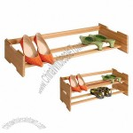 Bamboo Stacking Shoe Rack