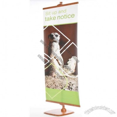 Bamboo Tension Banner Stand and Graphic 800mm Wide