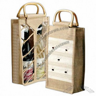 Bamboo Two Bottle Wine Tote