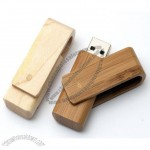 Bamboo Wood Swivel USB Flash Drive Memory Stick