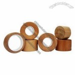 Bamboo and Wooden Grain Caps for Lotion Bottle, Cream Jar