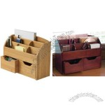 Bamboo or Cherry Space Saving Desk Organizer