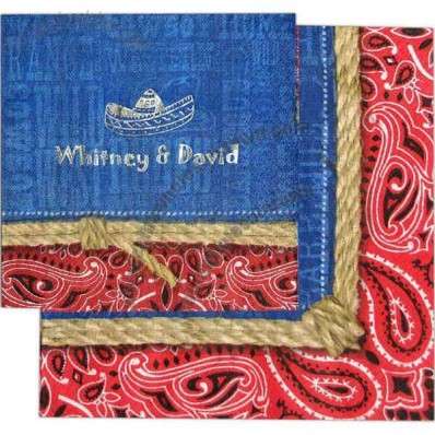 Bandana Ranch - 3-Ply Luncheon Napkin With Pattern