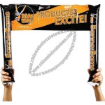 BannerBams - Inflatable noisemakers with attached banner