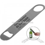 Bar style stainless steel bottle opener