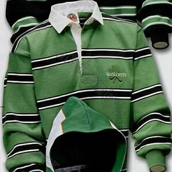 new concept d83b6 ac095 Barbarian Rugby Wear Ireland Rugby Shirt / Kelly/Black/White ...