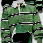 Barbarian Rugby Wear Ireland Rugby Shirt / Kelly/Black/White