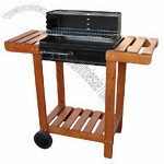 Barbecue Grill with Shelves and Utensil Hooks