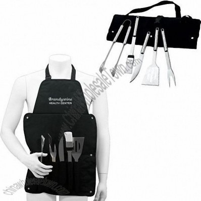 Barbeque Tool Set w/ Apron