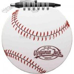 Baseball - Note pad with retractable pen