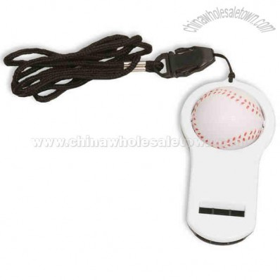 Baseball Stress Ball With Whistle And 16
