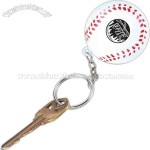 Baseball-Stress reliever key chain with sport stress ball attached