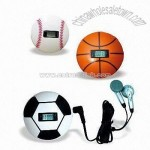 Baseball-shaped Radio Pedemoter with Digital Calorie Counter