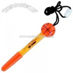 Basketball - Liquid bubbles pen-shaped container with neck rope