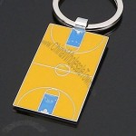 Basketball Court Keychain