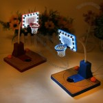 Basketball Court Touch Table Lamp with Compass and USB Charging