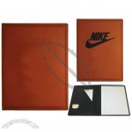 Basketball Grain Pattern Promotional Desk Folder / Custom Imprinted Pad Holder