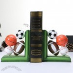Basketball Soccer Baseball Study Decoration Bookend