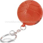 Basketball-Stress reliever key chain with sport stress ball attached