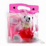 Bath Gift Set with a Toy Bear in a PVC Bag
