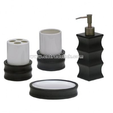 Bathroom Accessory Set 4pc