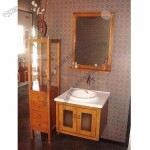 Bathroom Basin with Faucet and Storage Box