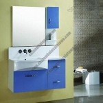 Bathroom Cabinet, Made of MDF in White High Gloss Finishing